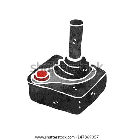 retro cartoon computer joystick - stock vector