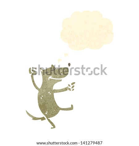 retro cartoon dancing dog - stock vector