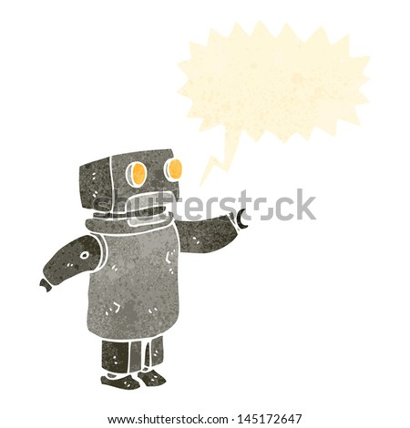 retro cartoon robot - stock vector