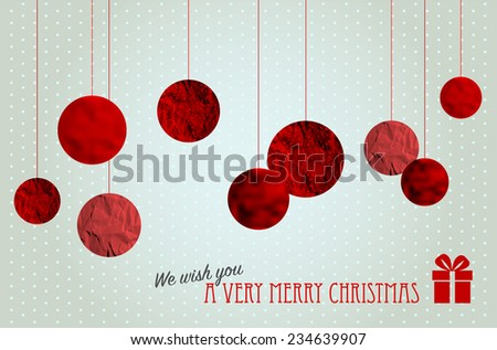 Retro christmas card with abstract christmas balls - vector illustration - stock vector