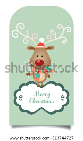 Retro Christmas Ornaments. Christmas Greeting Card. Vector illustration - stock vector