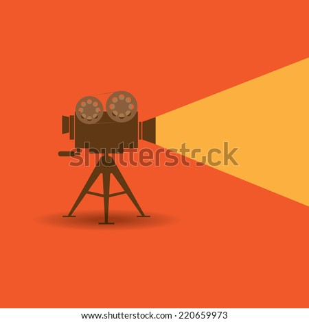 Retro cinema icon - stock vector