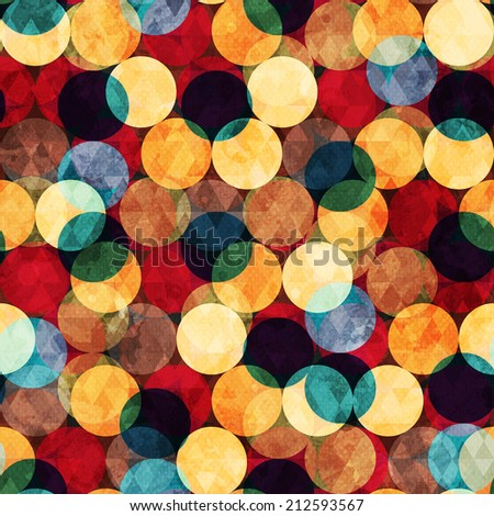 retro circle seamless texture with grunge effect - stock vector