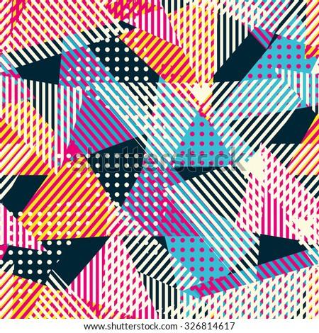 retro cloth seamless pattern - stock vector