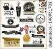Retro Coffee Badges And Labels - stock vector
