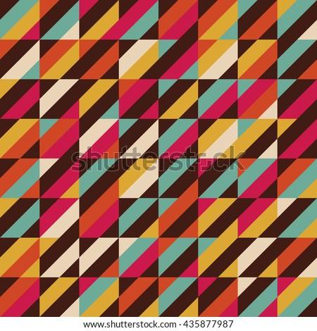retro color stripe seamless pattern, vintage background - stock vector