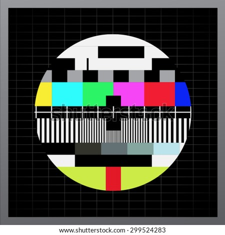 Retro color television - stock vector