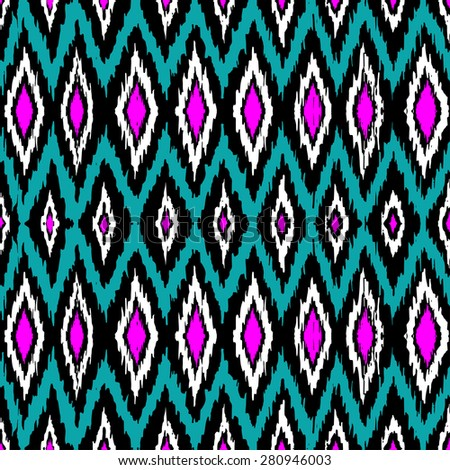 retro color tribal Navajo seamless vector pattern. aztec geometric print. ethnic hipster backdrop.    - stock vector