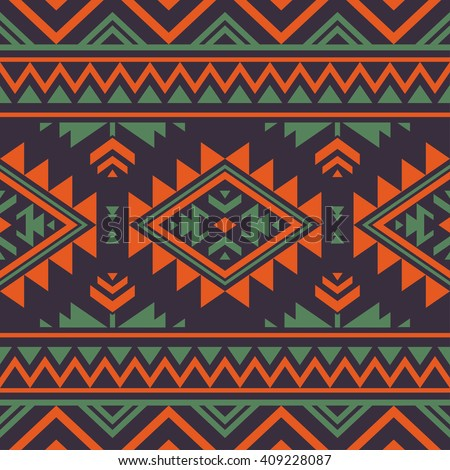 retro color tribal Navajo vector seamless pattern. aztec fancy abstract geometric art print. ethnic hipster backdrop. Wallpaper, cloth design, fabric, paper, cover, textile, weave, wrapping.  - stock vector