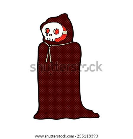 retro comic book style cartoon spooky halloween costume - stock vector