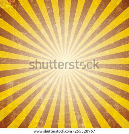 Retro concept stylish starburst & sunburst background with grunge style effect. - stock vector