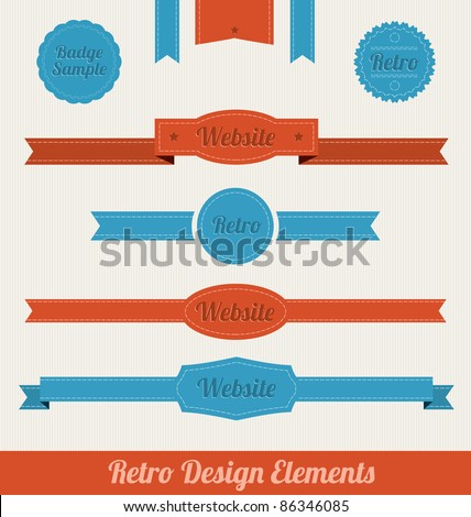 Retro Design Elements - stock vector