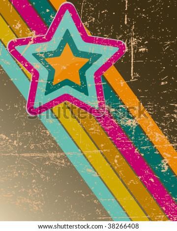 retro disco background - stock vector