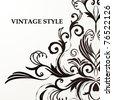 Retro floral background for vintage design. - stock vector