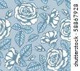 Retro flower seamless pattern - roses - stock vector