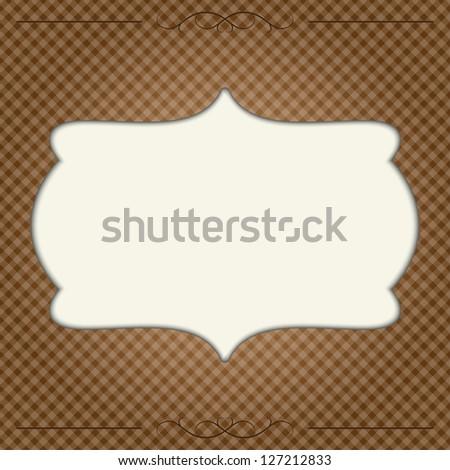 retro frame. vector eps10 - stock vector