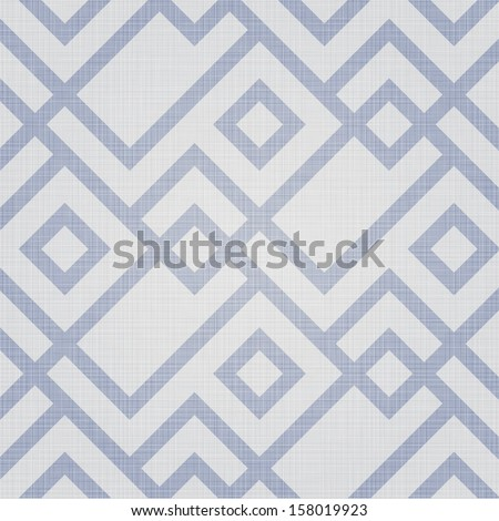 Retro geometric seamless pattern. Seamless pattern included in swatch panel. - stock vector