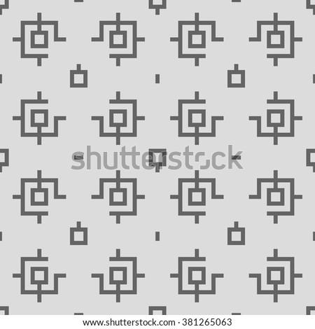 Retro Geometric Seamless Pattern Vector Illustration - stock vector