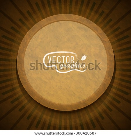 Retro geometrical sunburst pattern. Vector Template - stock vector