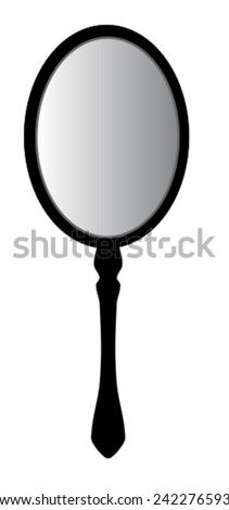 Retro hand mirror - stock vector