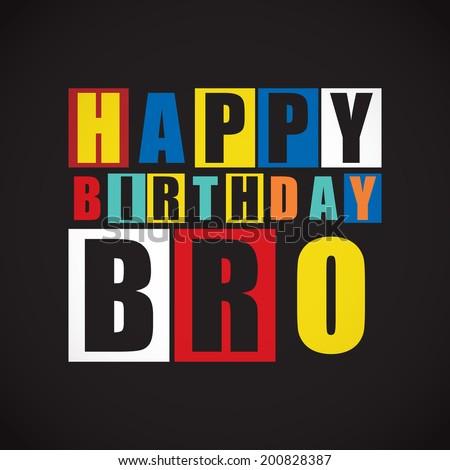 Retro Happy birthday card.  Vector illustration - stock vector