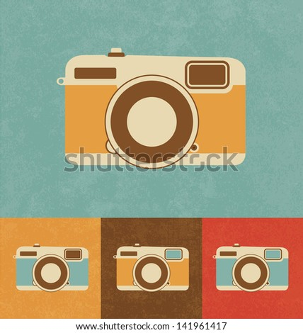 Retro Icons - Camera - stock vector