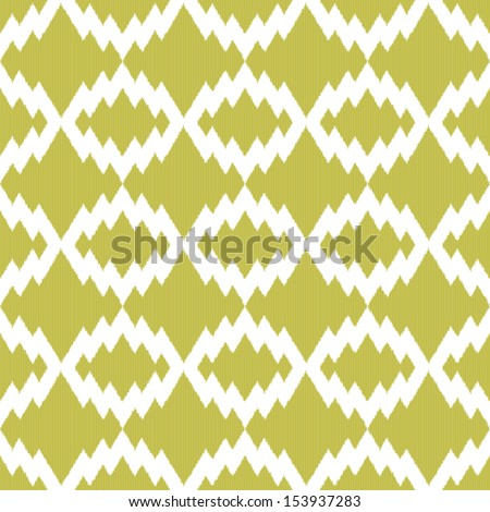 Retro Ikat tribal zigzag seamless pattern in indian style for web design or home decor - stock vector