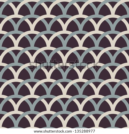Retro interlacing seamless pattern. Vector background. - stock vector