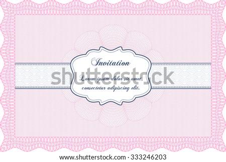 Retro invitation. With background. Retro design. Border, frame. - stock vector