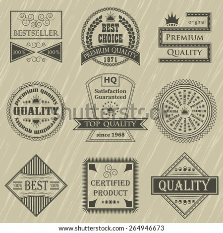 Retro labels set. Retro Vintage Design        - stock vector