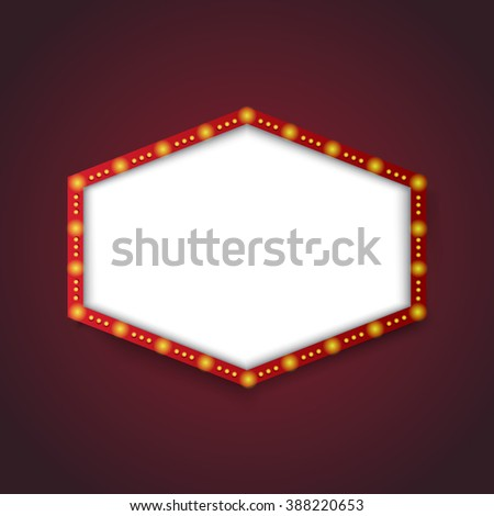 retro light banner - stock vector