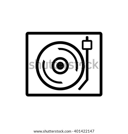 Retro music icon - stock vector