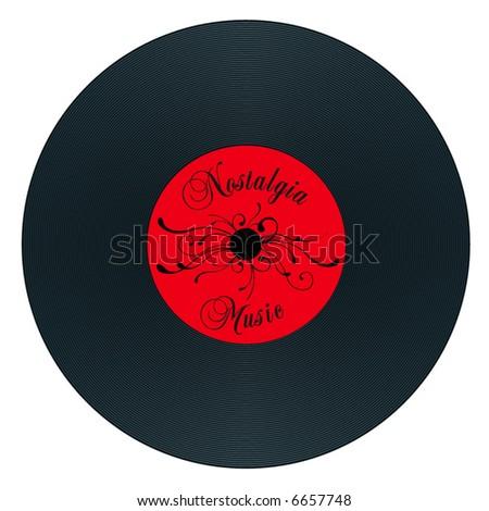retro old nostalgia gramophone record - stock vector