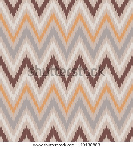 Retro pattern in elegant brown color. Beautiful chevron texture. Abstract seamless zig zag pattern. Classic background. Background for your textile or skin design. - stock vector