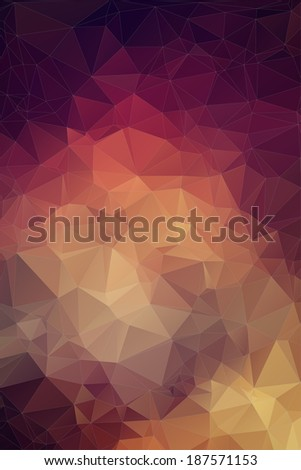 Retro pattern of geometric shapes. Colorful mosaic banner. - stock vector