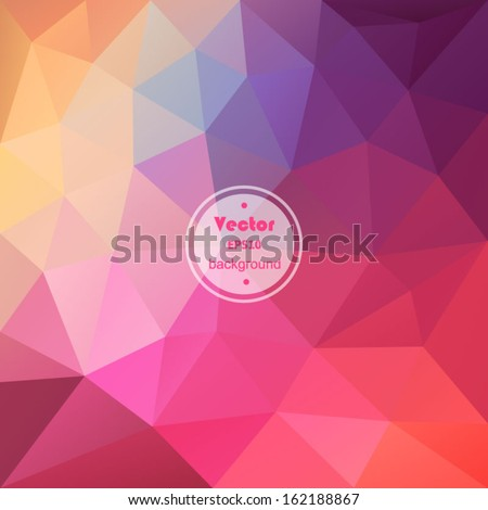 Retro pattern of geometric shapes. Colorful mosaic banner. Hipster retro background with place for your text. Retro triangle background.Vintage. Backdrop. Geometric background.  - stock vector