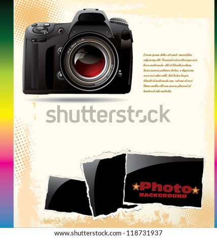 Retro Photo background - stock vector