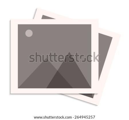 Retro Photo Frame Icon - stock vector