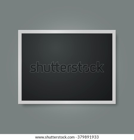 Retro photo frame. Isolated on gray background. Vector illustration, eps 10 - stock vector