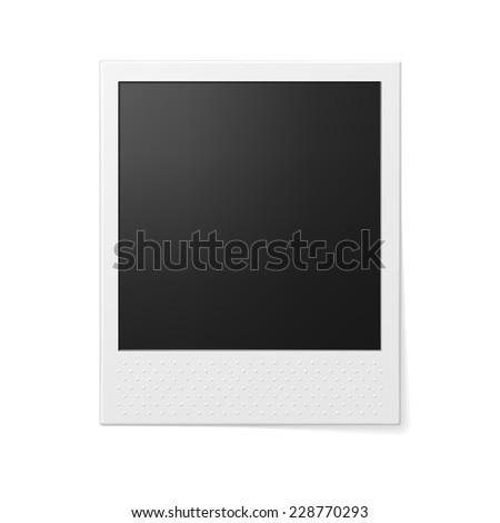 Retro photo frame. Photo realistic vector illustration. - stock vector