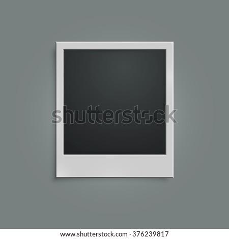 Retro photo frame. Polaroid. Isolated on gray background. Vector illustration, eps 10 - stock vector