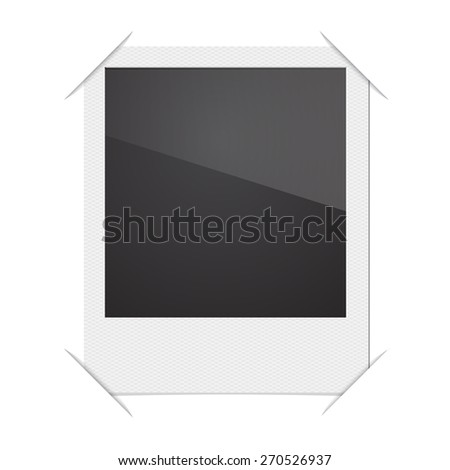Retro Photo Frame Polaroid  On White Background. Vector illustration - stock vector