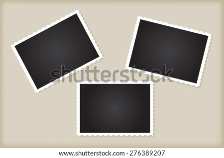 Retro photo frames.Abstract vector illustration. - stock vector