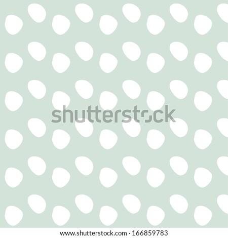 Retro polka dot pattern - stock vector