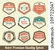 Retro Premium Quality Labels - stock vector