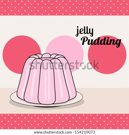 retro pudding card - stock vector