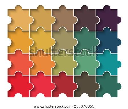 retro puzzle block - stock vector
