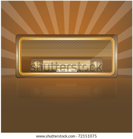 Retro radio - stock vector