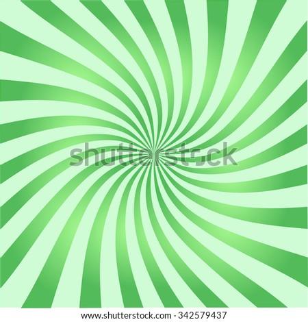 Retro ray background green color stylish illustration - stock vector