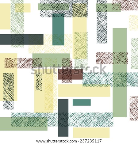 Retro Rectangles Seamless Pattern - stock vector